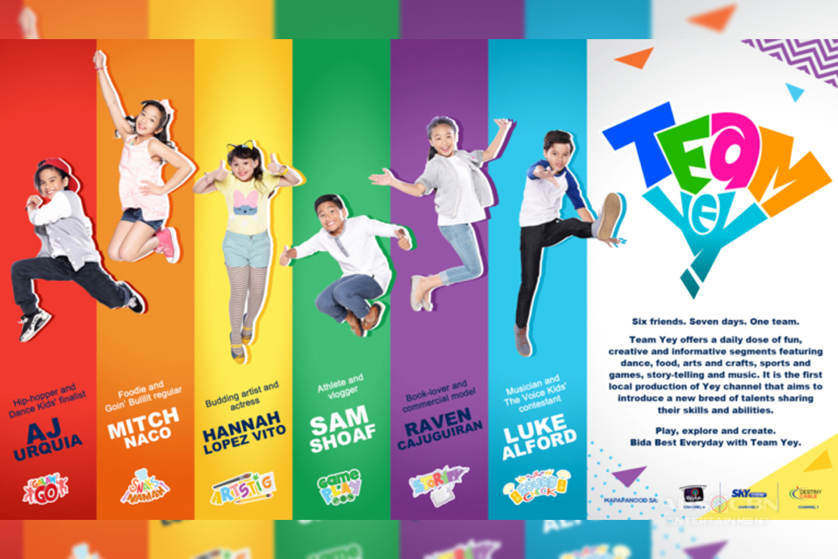 "ABS-CBN TVPlus Introduces First-Ever Locally Produced Kid's Show ""Team Yey"" On Digital Free TV In PH"